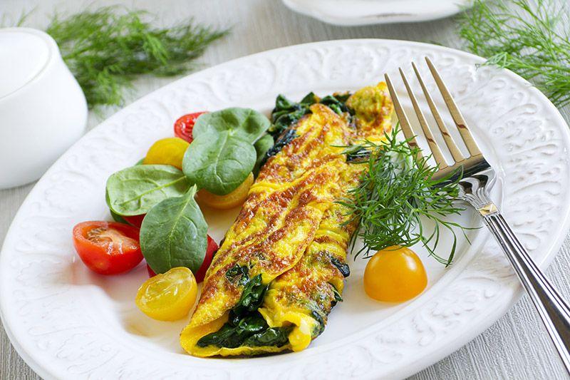chudy omlet grecki