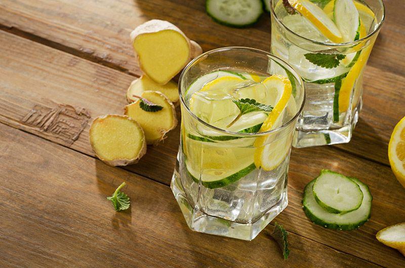 Pije wodę z imbirem i cytryną czy moge schudnąć
